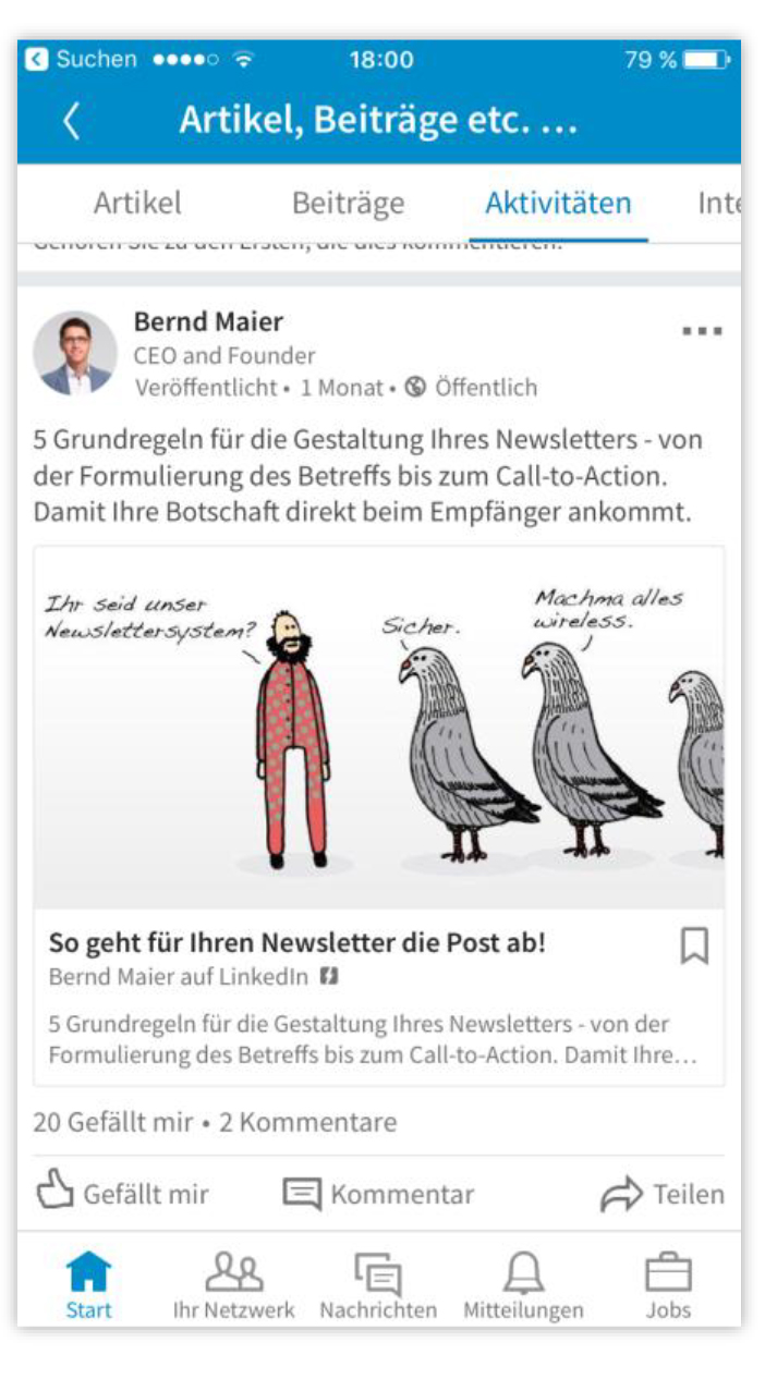 Optimale Textlänge im LinkedIn-Posting
